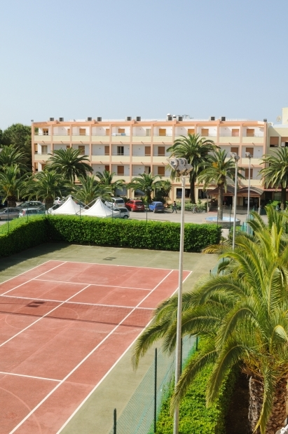 View of the tennis court